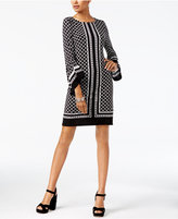 INC International Concepts Printed Bell-Sleeve Dress, Created for Macy's