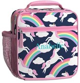 Pottery Barn Kids Classic Lunch Bag, Mackenzie Navy Rainbow Unicorn Collection