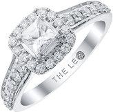 Leo Diamond Platinum 0.75ct II1 Diamond Halo Ring