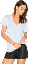 Bobi Light Weight Jersey V Neck Pocket Tee in Blue. - size XS (also in )