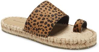 Chocolat Blu Bola Genuine Calf Hair Espadrille Slide Sandal
