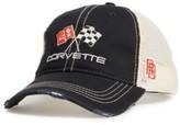Original Retro Brand Men's Corvette Flags Trucker Hat - Black