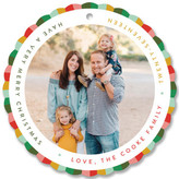 Minted Circus Elf Holiday Ornament Cards