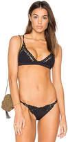 Frankie's Bikinis Frankies Bikinis Stella Top in Black. - size L (also in S)