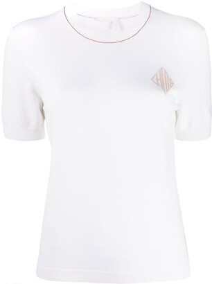 Chloé Short Sleeve Monogram Jumper