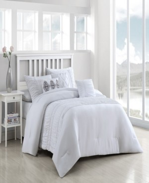 Geneva Home Fashion Navier 6-Piece Ruched Queen Bedding Set Bedding