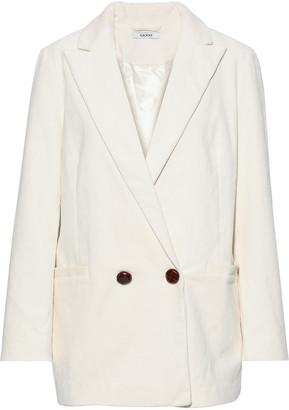 Ganni Ridgewood Double-breasted Cotton-blend Corduroy Blazer