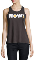 Chaser Peace Now Tank Top, Very Black