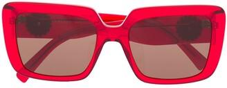 Versace Eyewear Red Translucent Sunglasses