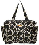 Infant Girl's Foxy Vida 'Lattice' Print Satchel - Black