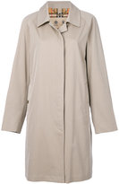 Burberry long sleeved button trench