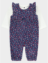 George Floral Corduroy Dungarees and Top Set