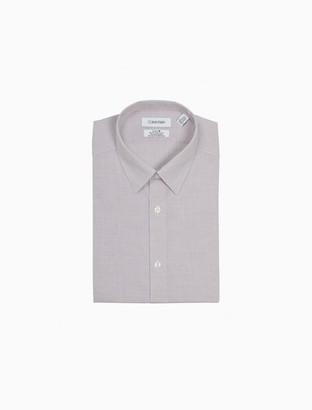 Calvin Klein Slim Fit Burgundy Check Performance Non-Iron Dress Shirt