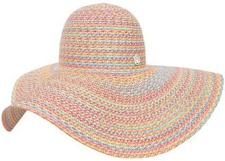 Maison Michel Blanche Multicolor Faux Straw Hat