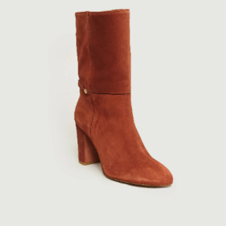 Petite Mendigote Rust Suede Leather Touraco Boots - Suede Leather   rust   40 - Rust