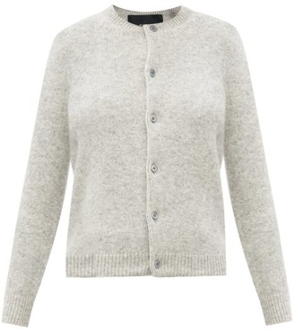 MARC JACOBS, RUNWAY Marc Jacobs Runway - Round-neck Wool-blend Cardigan - Grey