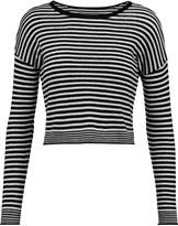 Alice + Olivia Kai cropped striped wool-blend sweater