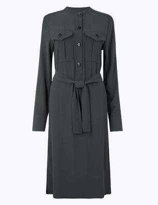 Marks and Spencer Utility Belted Shirt Dress
