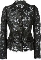 Dolce & Gabbana lace fitted jacket - women - Cotton/Polyamide/Acetate/viscose - 42