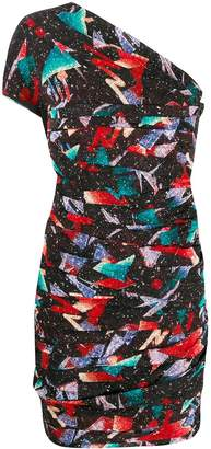 IRO Cabinda abstract-print short dress
