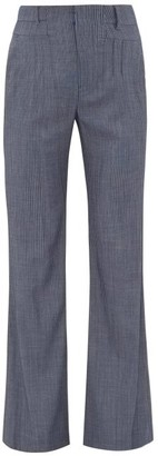 Altuzarra Zeke Striped Wool-blend Trousers - Blue