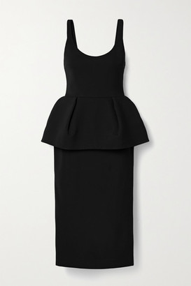Cushnie Stretch-crepe Peplum Midi Dress - Black