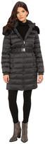DKNY Belted Coat w/ Detachable Faux Fur Collar 75909-Y5