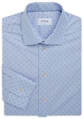 Eton Slim-Fit Printed Cotton Dress Shirt