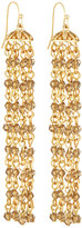 Fragments for Neiman Marcus Long Multi-Strand Crystal Chandelier Earrings, Gold/Smoky Quartz