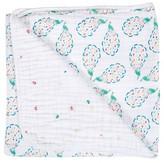 Bebe Au Lait Snuggle Blanket, Peacock/Pansies