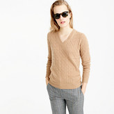 J.Crew Cambridge cable V-neck sweater