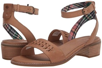 Sperry Seaport City Sandal Ankle Strap Woven Leather (Tan) Women's Shoes