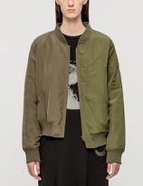 Perks And Mini Strange Fruit Asymmetrical Bomber Jacket