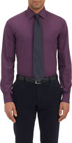 Piattelli MEN'S POPLIN DRESS SHIRT-PURPLE SIZE 15