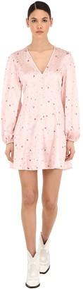 Ganni Blakely Printed Silk Mini Dress