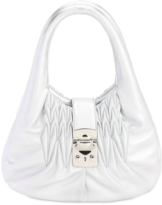 Miu Miu Quilted Metallic Leather Top Handle Bag