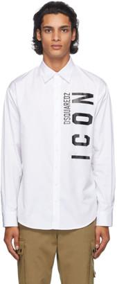 DSQUARED2 White Poplin Icon Shirt