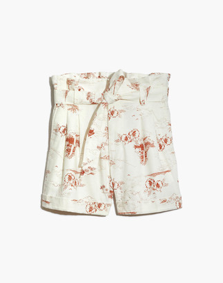 Madewell Paperbag Shorts in Paradise Toile