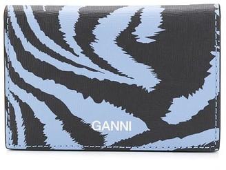 Ganni Zebra Print Card Case