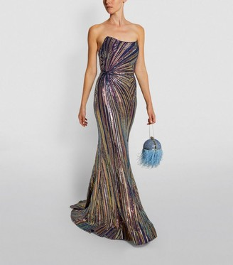 Jovani Sequin Strapless Gown