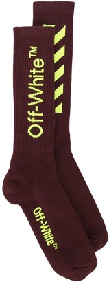 Off-White Intarsia Logo Socks