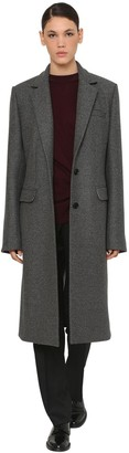 Nina Ricci One Breast Wool Gabardine Coat