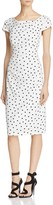 Adrianna Papell Short-Sleeve Polka Dot Dress