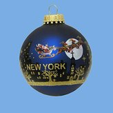 Kurt Adler New York Santa Skyline Painted Ball Ornament, 2-5/8-Inch