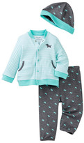 Little Me Puppy Icon Cardigan Set & Hat (Baby Boys)