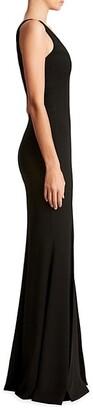 Dress the Population Iris Sleeveless Crepe Slit Gown
