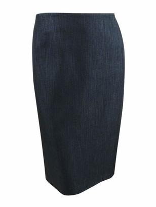 Anne Klein Women's Plus Size Denim Skirt