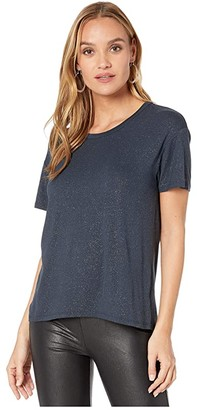 Chaser Diamond Jersey High-Low Boxy Tee (Oxford) Women's Clothing