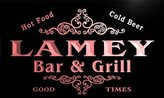 AdvPro Name u25153-r LAMEY Family Name Bar & Grill Home Beer Food Neon Sign