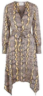 Just Female Golden Sun Snake Naomi Dress - L - Natural/Gold
